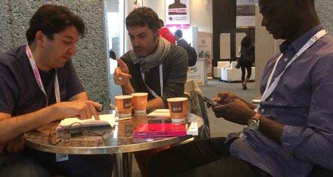 Work session with Hicham Falah (FIDADOC) and Alex Moussa Sawadogo (Ouaga Lab)