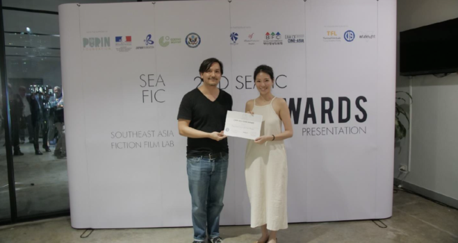 Director Ang Geck Geck and producer Fran Borgia were awarded the Open SEA Fund Award for their Singaporean project AH GIRL