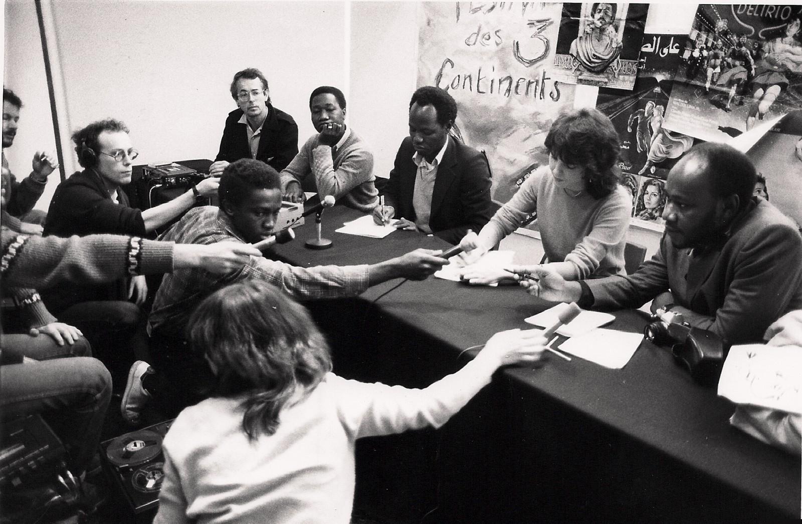 Table ronde - Gaston Kaboré à droite