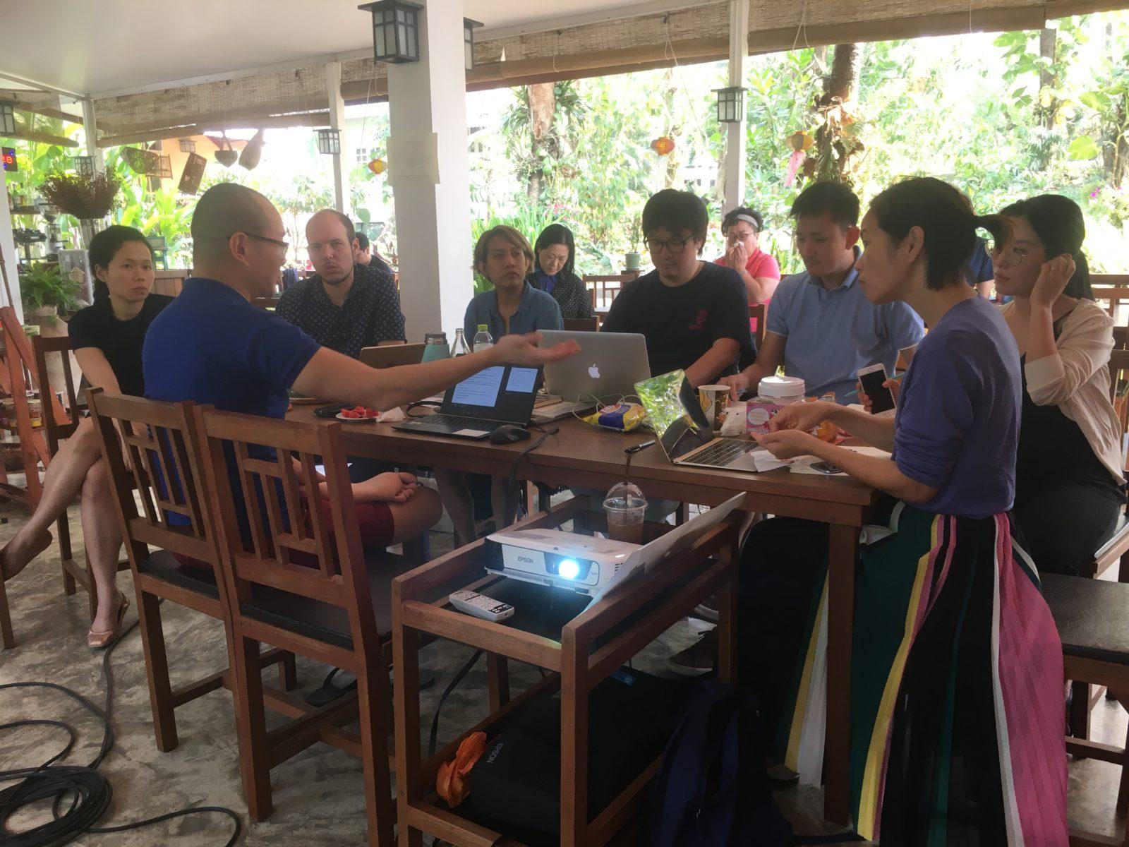 group session with Raymond Phathanavirangoon