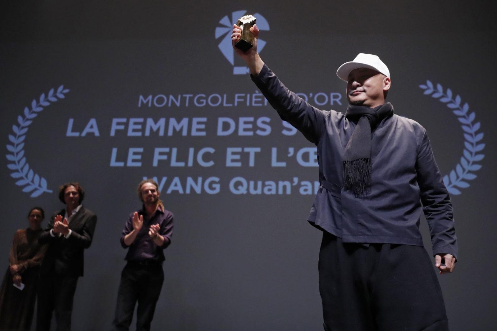 WANG Quan'an, qui a reçu la Montgolfière d'or pour La Femme des steppes, le Flic et l'oeuf ©S Mahé