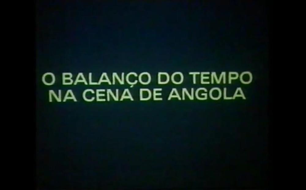 1-O Balanço do Tempo... de Ruy Duarte Carvalho