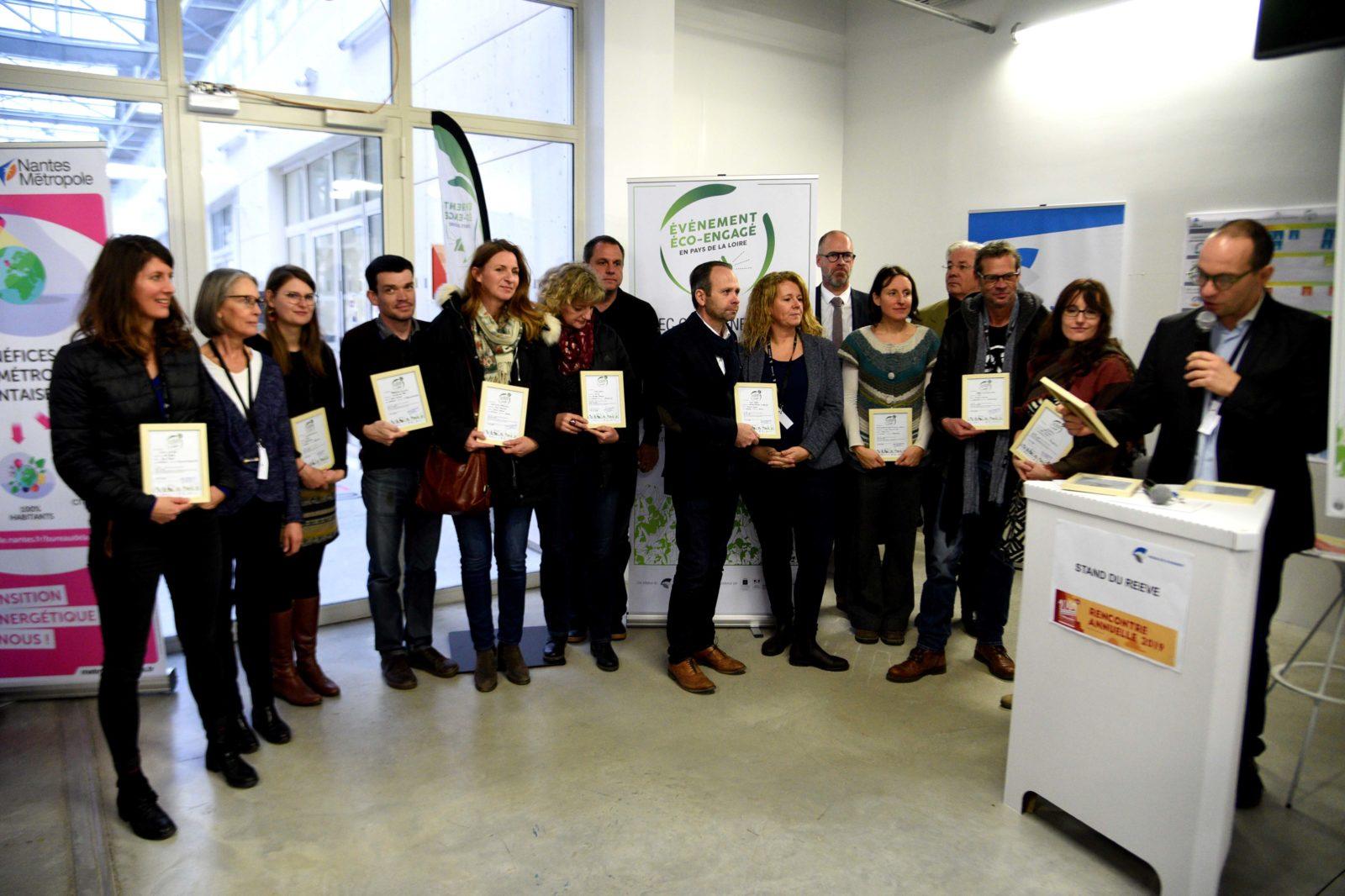 Remise du label éco-événement à Nantes en décembre 2019.