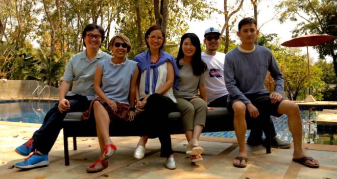 3rd edition SEAFICxPAS producers' photo! Left to Right: Alemberg Ang (Philippines), Yulia Evina Bhara (Indonesia), Tran Thi Bich Ngoc (Vietnam), Youngjeong OH (South Korea/Myanmar), Josh Levy (Vietnam), Jade Castro (Philippines).