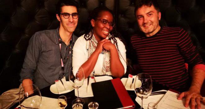 Jumpstart 2019 team of mentors : Mmabatho Kau (SA - middle) and Jérémie Dubois (France - left)