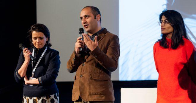 Notre traductrice, Hilal Badarov et Aisha Rahim © CE Blot